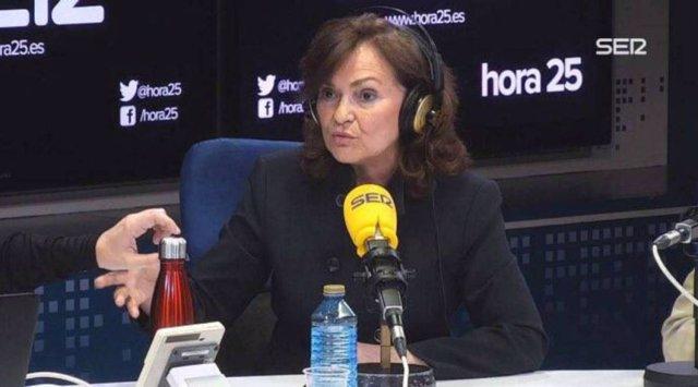 Entrevista en la Cadena Ser a la vicepresidenta del Gobierno, Carmen Calvo