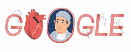 Google homenajea en su 'doodle' a René Favaloro, el médico argentino que inventó el bypass