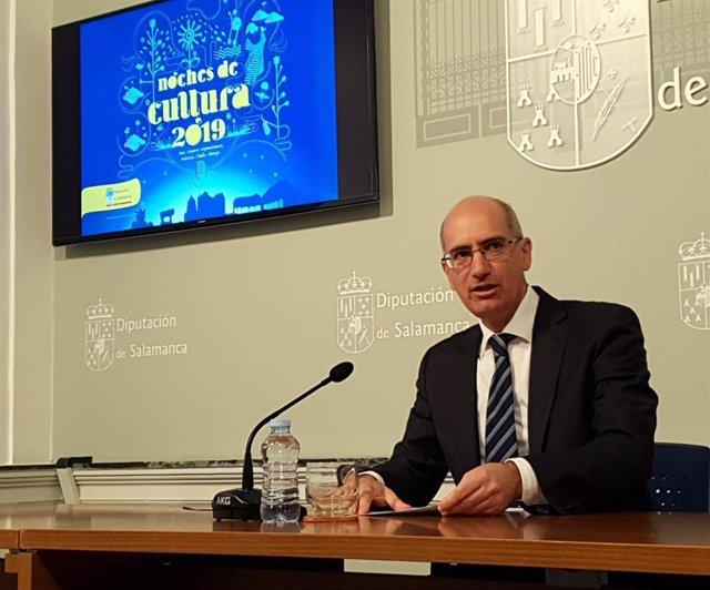 Javier Iglesias en la Diputación de Salamanca.