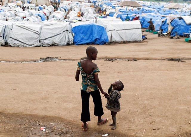 RDCongo.- Mueren más de cien niños en dos meses en un campamento de desplazados en RDC, principalmente por sarampión