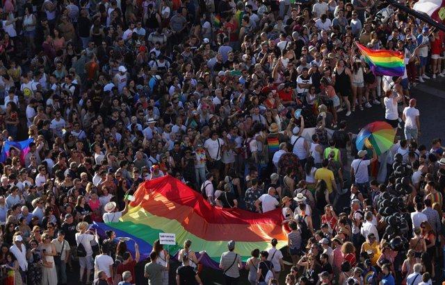 Imagen de la manifestación del Orgullo LGTBI en Madrid.