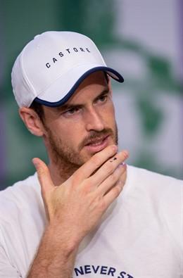 El tenista británico Andy Murray tras perder en Wimbledon