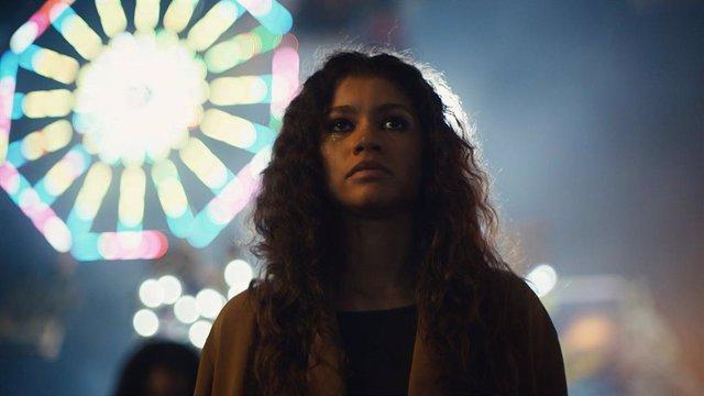 Imagen de Zendaya como Rue Bennett en Euphoria