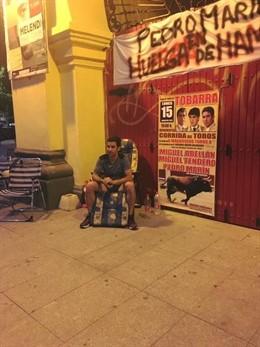 El torero Pedro Marín finaliza diez días de huelga de hambre en Albacete.