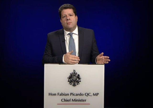 Captura de una declaración del ministro principal de Gibraltar, Fabian Picardo