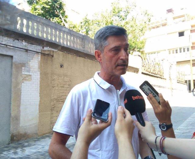 Jordi Martí (JxCat) en declaraciones a los medios