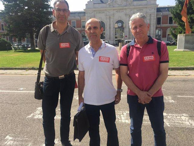 Goyo Díez (i), Manuel Taguas y Julián Estéfano, hoy en Valladolid.
