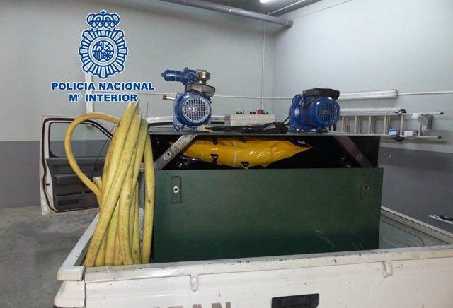 Camión en el que iban ocultos 50 kilos de marihuana en Granada