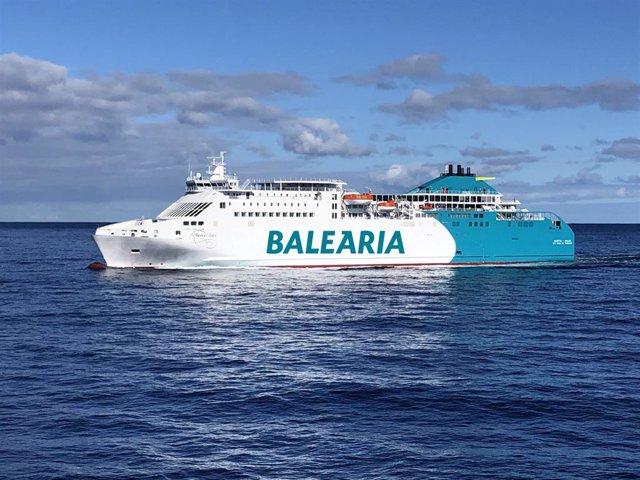 Imatge d'arxiu d'un vaixell de la naviliera Baleària.