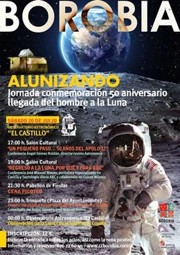 Cartel de la actividad que organiza el Observatorio de Borobia (Soria).