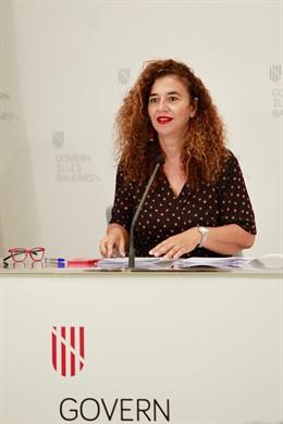 La portaveu del Govern, Pilar Costa, en roda de premsa
