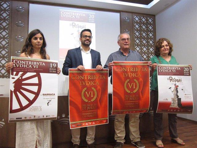 Autoridades en la presentación en Badajoz de 'Contributva Lvdica' 2019 de Medina de las Torres