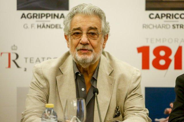 Rueda de prensa sobre la obra 'Giovanna d'Arco', con Plácido Domingo en el Teatro Real