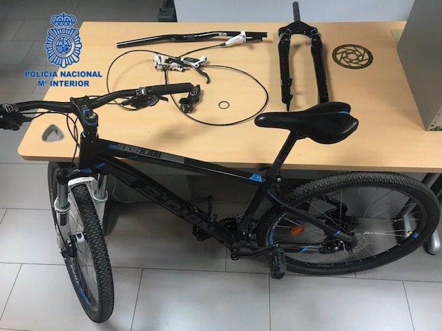 Imagen de una de las bicicletas sustraídas.