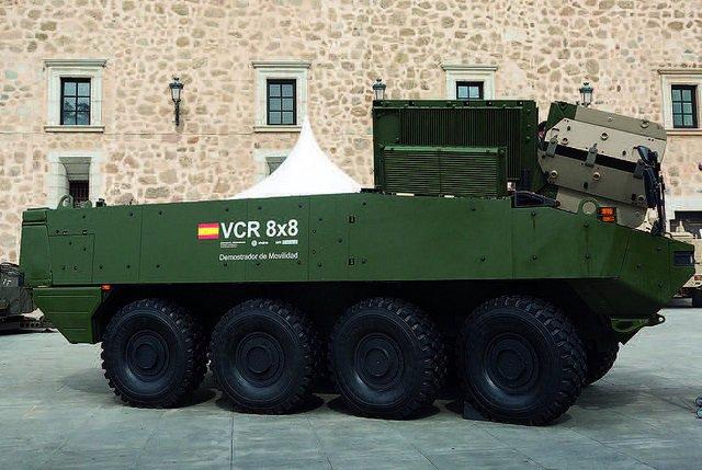 Prototipo del nuevo vehículo blindado de las Fuerzas Armadas.