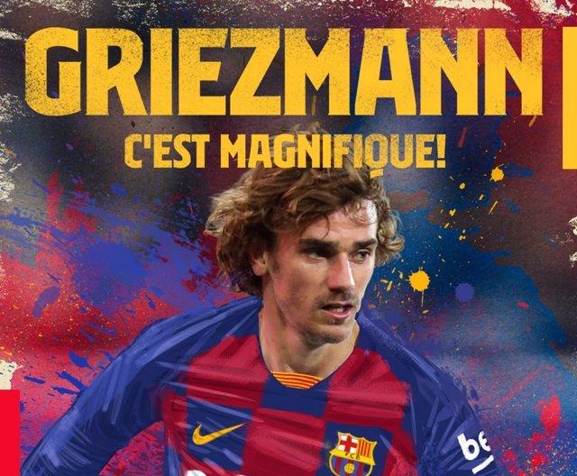 Antoine Griezmann, nuevo jugador del FC Barcelona