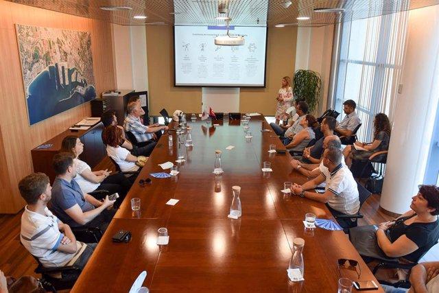 Reuniñon entre la delegación de la ciudad truca de Çanakkale y el puerto de Tarragona