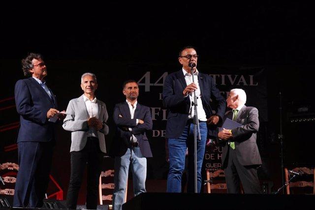 Inauguración del Festival de Cante Flamenco de Moguer (Huelva).