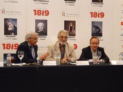 """Plácido Domingo cierra la temporada del Teatro Real con una ópera verdiana en concierto: """"Verdi siempre nos sorprende"""""""