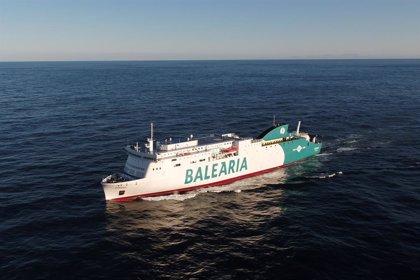 El buque de Baleària estará inoperativo hasta el día 18 por los daños tras una colisión