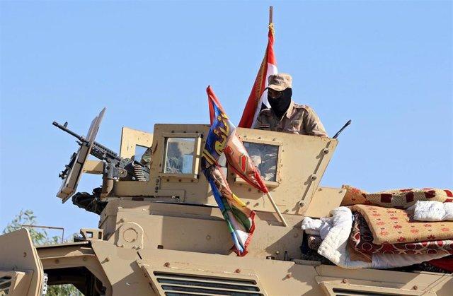 Soldados iraquíes en Nínive
