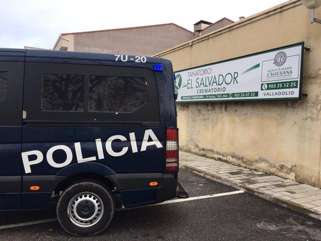 Registro de las oficinas de El Salvador en el presunto fraude funerario en Valladolid