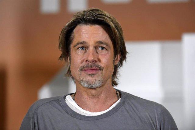 Brad Pitt en el photocall de su nueva película, 'Érase una vez en... Hollywood'