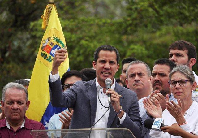 """El """"presidente encargado"""" de Venezuela, Juan Guaidó"""