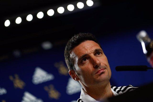 El entrenador de la selección argentina de fútbol Lionel Scaloni