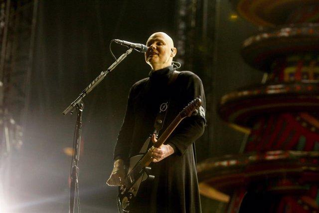 Billy Corgan, cantante de The Smashing Pumpkins actúa en el Mad Cool Festival 2019 en el IFEMA de Madrid.