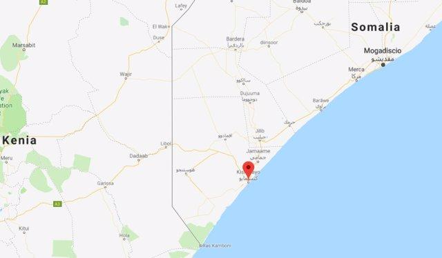 Mapa Kismayo