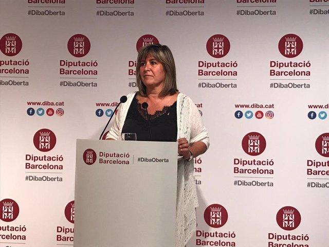 Núria Marín, en rueda de prensa tras ser nombrada presidenta de la Diputación de Barcelona