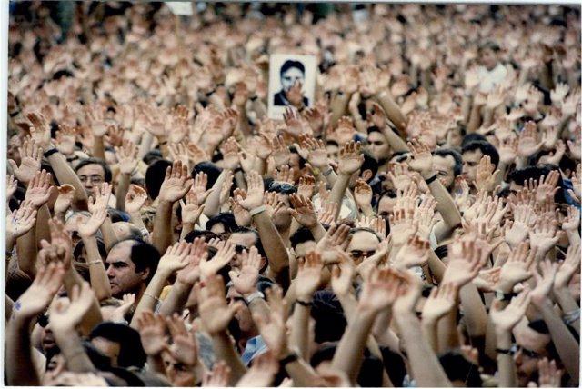 Manifestación tras el asesinato de Miguel Ángel Blanco