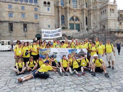 """Los peregrinos de la Fundación Down Madrid completan """"entre aplausos"""" el Camino en nueve días desde Sarria (Lugo)"""