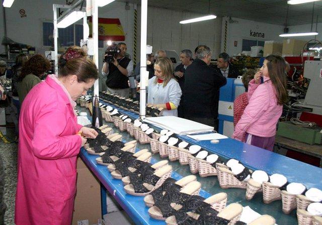 Foto de archivo de empresa dedicada a fabricación de calzado