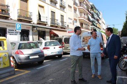 Ayuntamiento de Sevilla habilita 27 nuevas plazas de aparcamiento en la calle Feria, entre Antonio Susillo y Escoberos