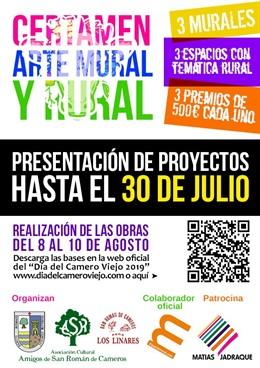 Cartel del Certamen de Arte Mural y Rural de San Román de Cameros