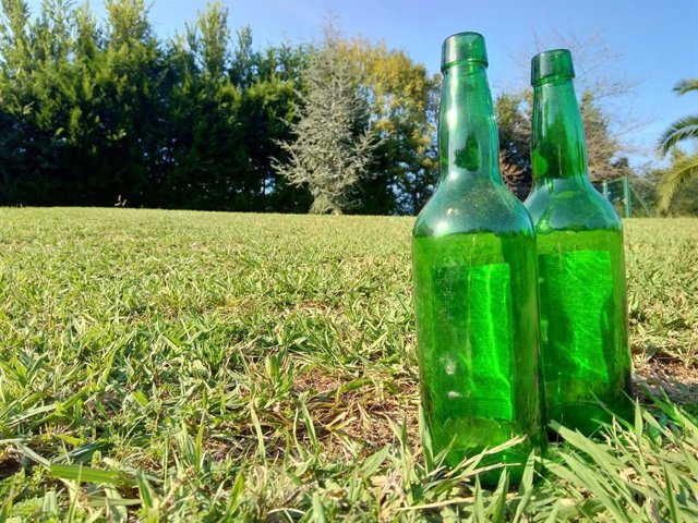 Botellas de sidra asturiana