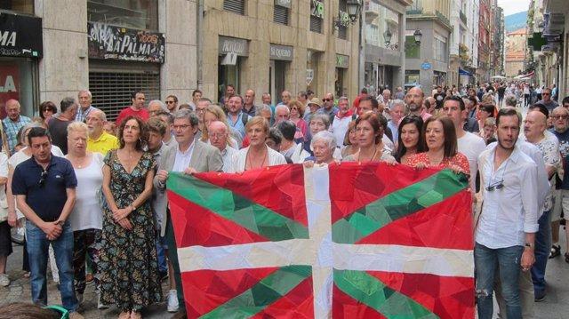Itxaso Atutxa, en el 125 aniversario de la ikurriña, en Bilbao