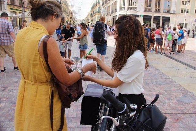 Servicio de información turística en bicicleta.