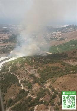Incendio forestal en Motril