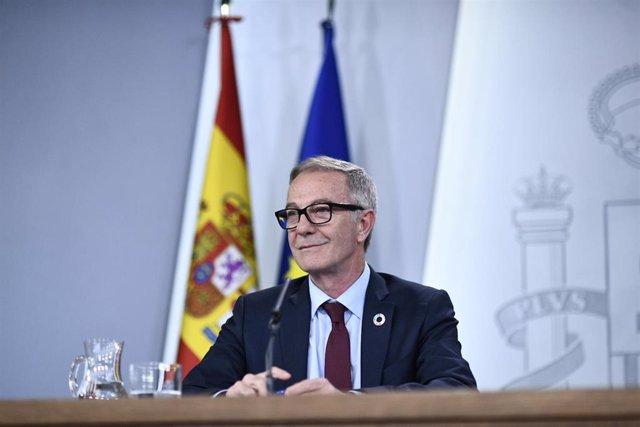 El ministro de Cultura y Deporte, José Guirao, en una imagen de archivo