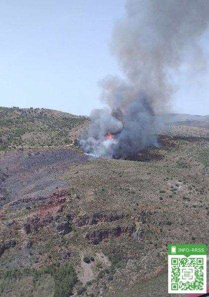 Declarado un incendio forestal en el paraje de Terque (Almería)