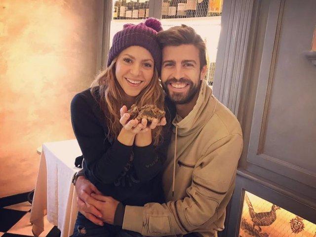 Piqué y su mujer, Shakira