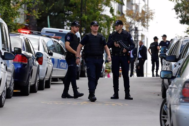 Agentes de policía en Ankara