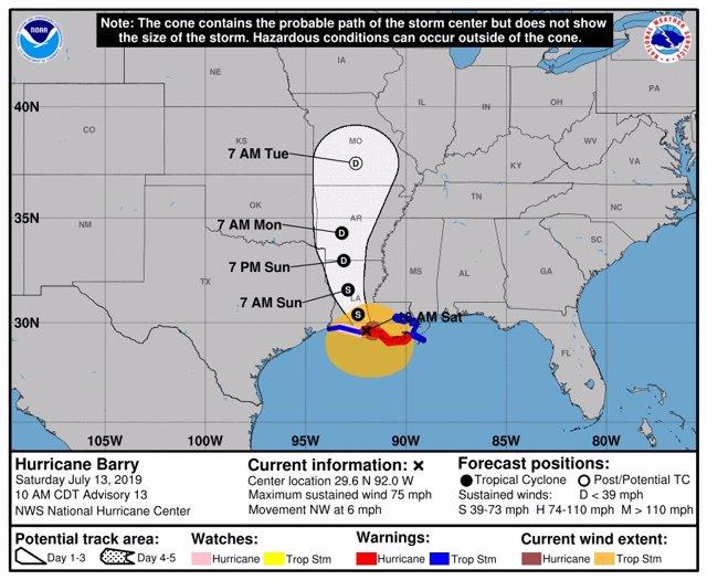 Huracà Barry arriba a Louisiana