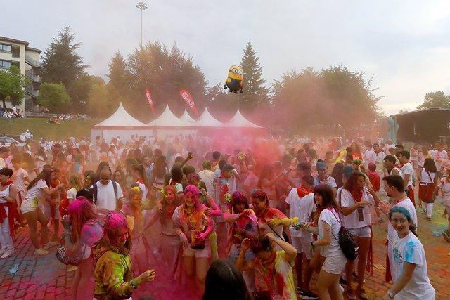 Fiesta Holy en la Zona Joven durante los Sanfermines 2018