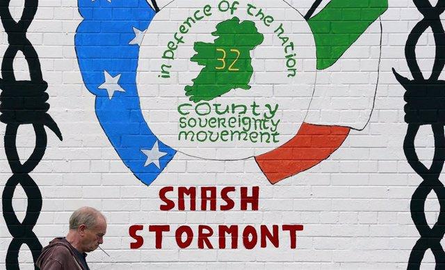 Mural republicano en Belfast, Irlanda del Norte