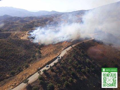 Declarado un incendio un paraje de Mijas (Málaga)