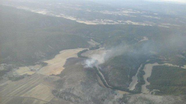 Incendios.- Extinguido el declarado el pasado miércoles en la localidad conquens